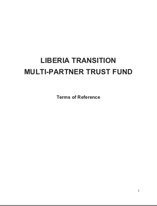 LIBERIA TRANSITION MULTI-PARTNER TRUST FUND Terms of Reference