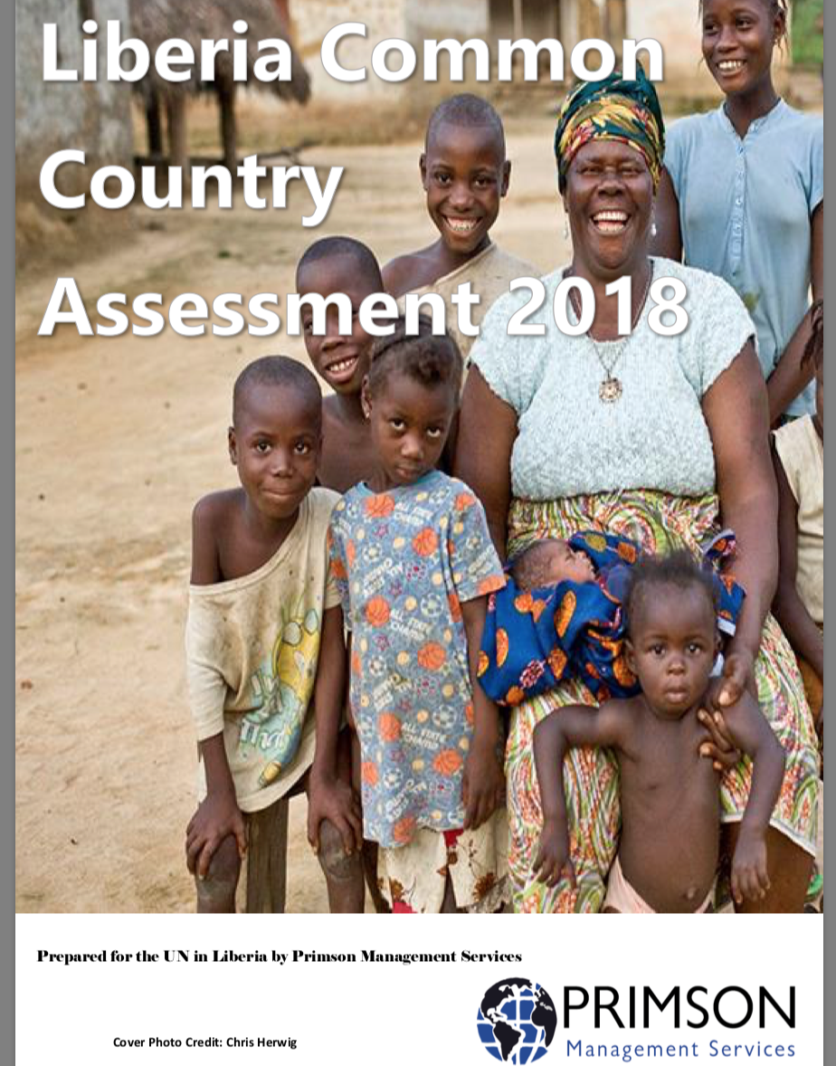 Liberia Common Country Assessment 2018