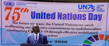 """""""World Safer, More Prosperous Today Because of UN,"""" President Weah Pays Tribute to UN at 75th Anniversary"""