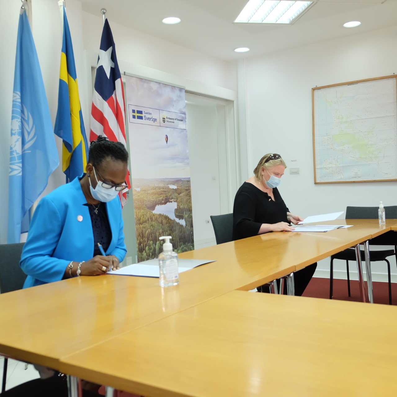 Sweden and UNDP Sign US$ 4.8 million Financing Agreement to Support Liberia's Electoral Process