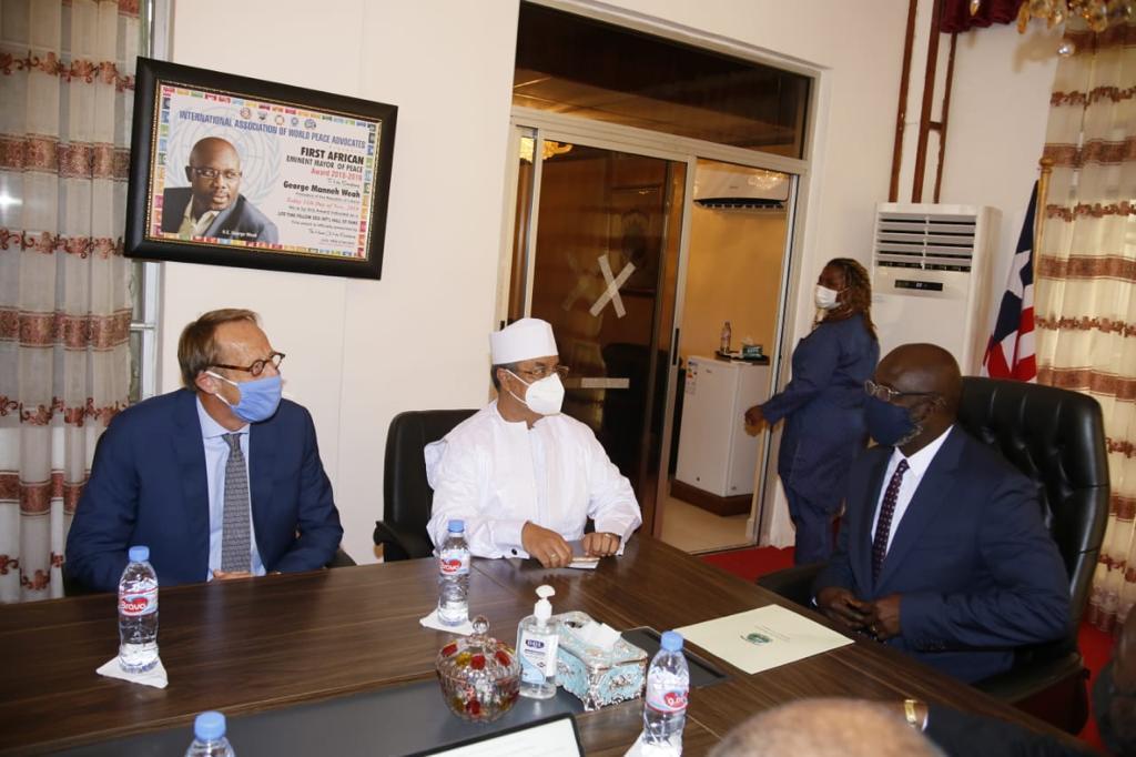 SRSG Mahamat Saleh Annadif Visits His Excellency President George Manneh Weah