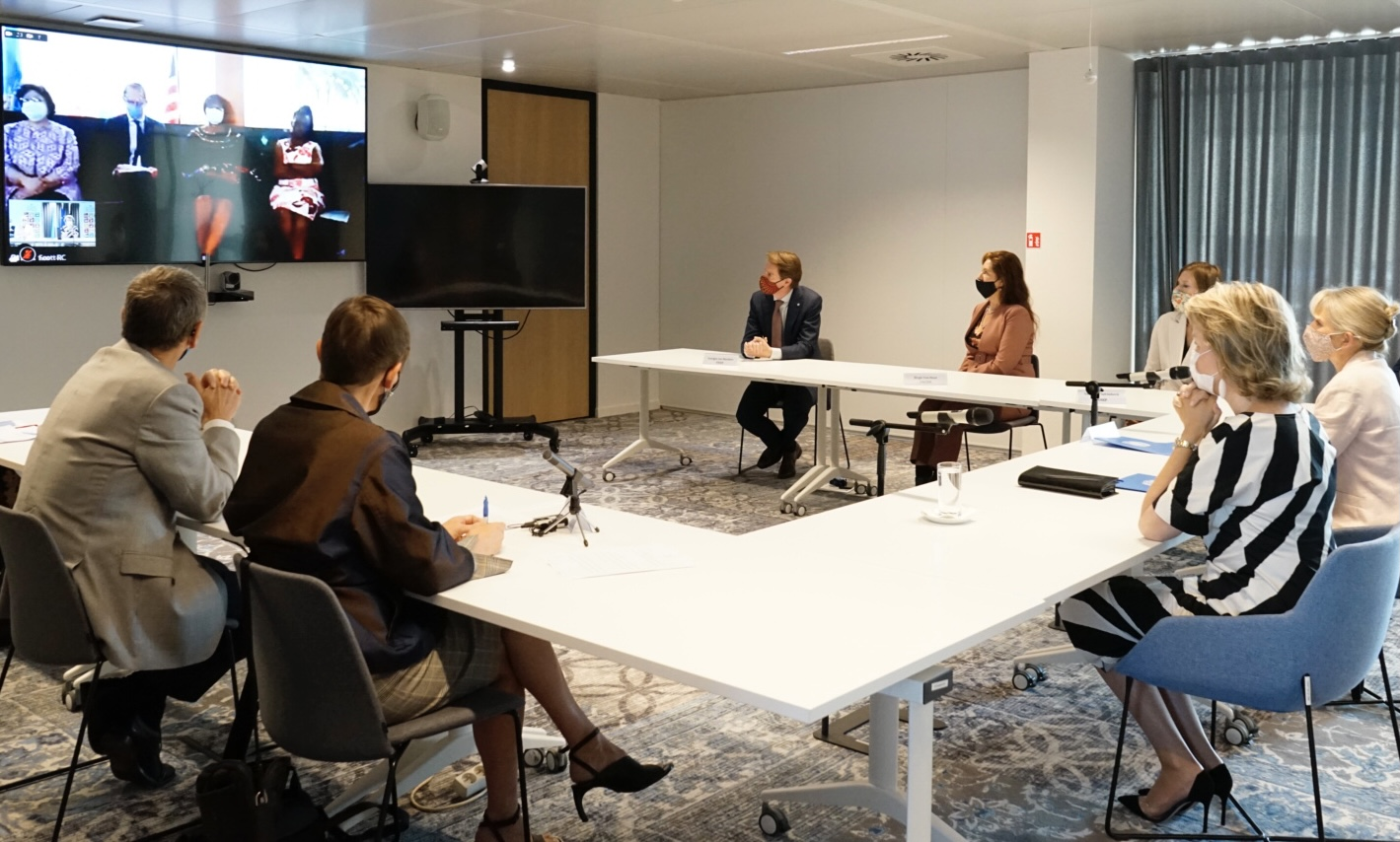 The Queen of the Belgians Pays a Virtual Visit to the UN Country Team In Liberia